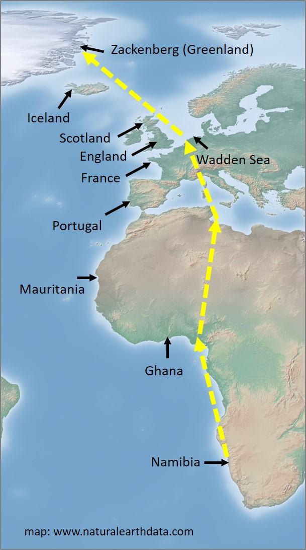 map cross Africa